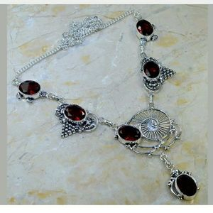 Gorgeous! Garnet Handcrafted 925 Necklace